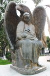 Eagle protecting the mother -- IMSS emblem